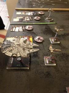 The Rebel Fleet Lines up